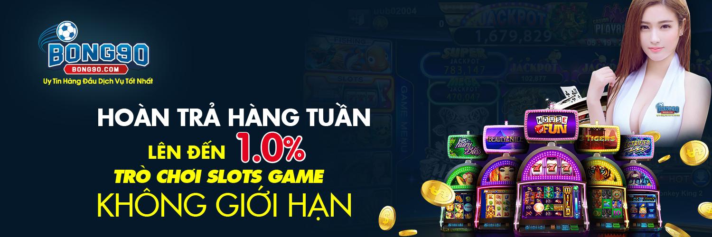 HOÀN TRẢ HẰNG TUẦN LÊN ĐẾN 1.0% TRÒ CHƠI SLOTS GAME